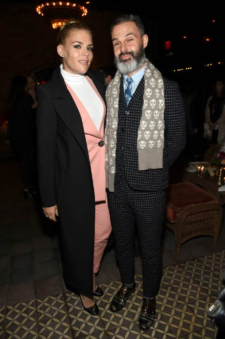 Busy Philipps and Marc Silverstein at How to be Single New York Premiere After Party in February 2016