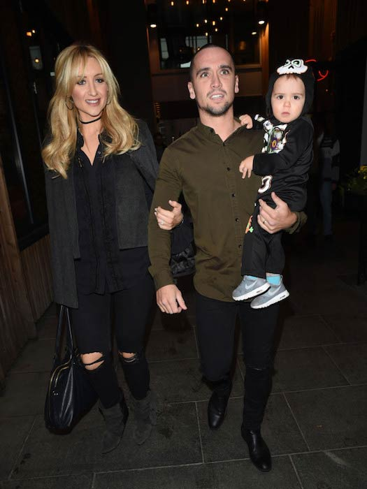Catherine Tyldesley with Tom Pitfield and baby Alfie