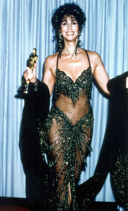 Cher at the 60th Academy Awards in April 1988