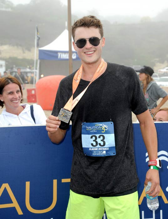 Dylan Efron at the Nautica Malibu Triathlon presented by Equinox in September 2016