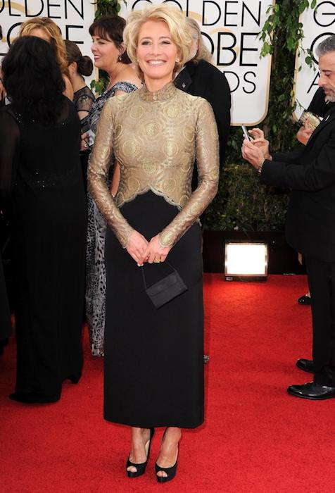 Emma Thompson at the 2014 Golden Globe Awards at Beverly Hills, California