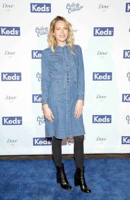 Erin Foster at the Create & Cultivate 100 event in January 2017