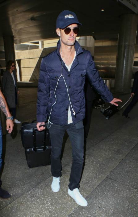 Evan Spiegel at the LAX Airport in Los Angeles in July 2016