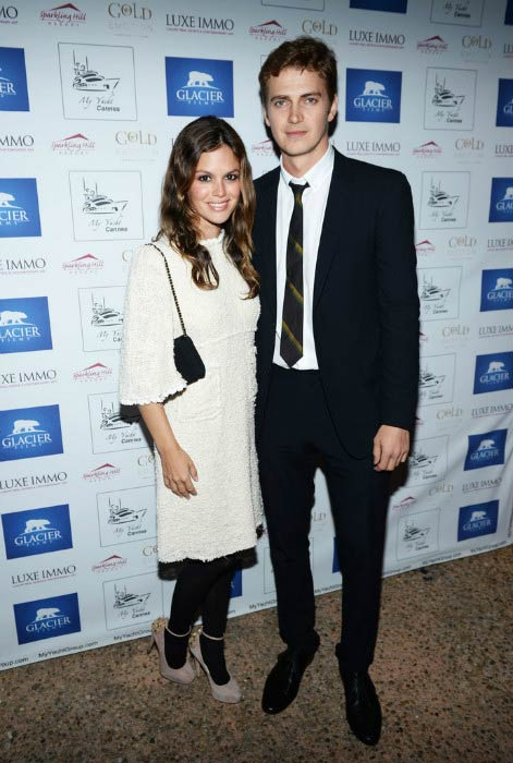 Hayden Christensen and Rachel Bilson at the Glacier Films launch party in May 2013 in Cannes, France