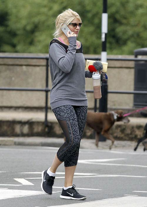 Holly Willoughby after a workout session