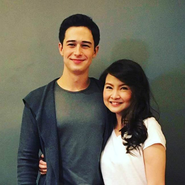 Ivan Dorschner and Barbie Forteza at the Meant to Be event in 2017