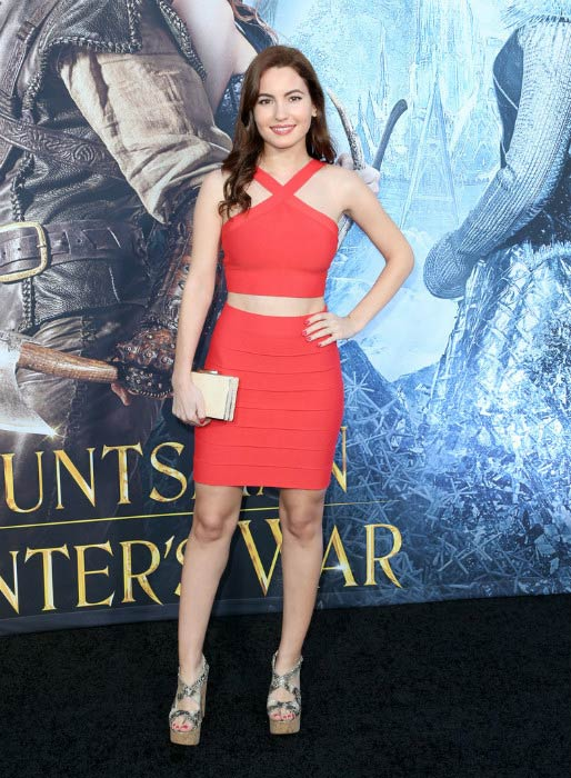 Ivana Baquero at the premiere of The Huntsman: Winter's War in April 2016 in Westwood