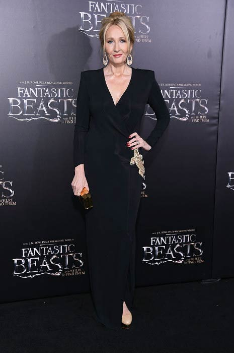 """J. K. Rowling at the """"Fantastic Beasts and Where To Find Them"""" World Premiere in November 2016"""