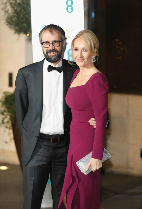 J. K. Rowling and Neil Murray at the official after party for the 70th EE British Academy Film Awards in February 2017