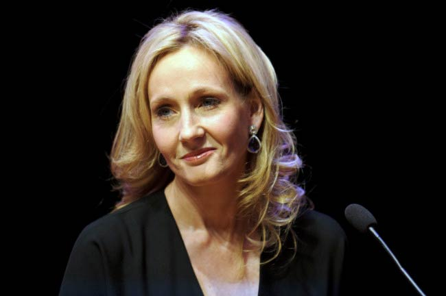 J. K. Rowling at the photocall for her book, The Casual Vacancy in September 2012