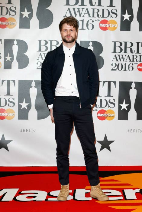 Jay McGuiness at the 2016 BRIT Awards