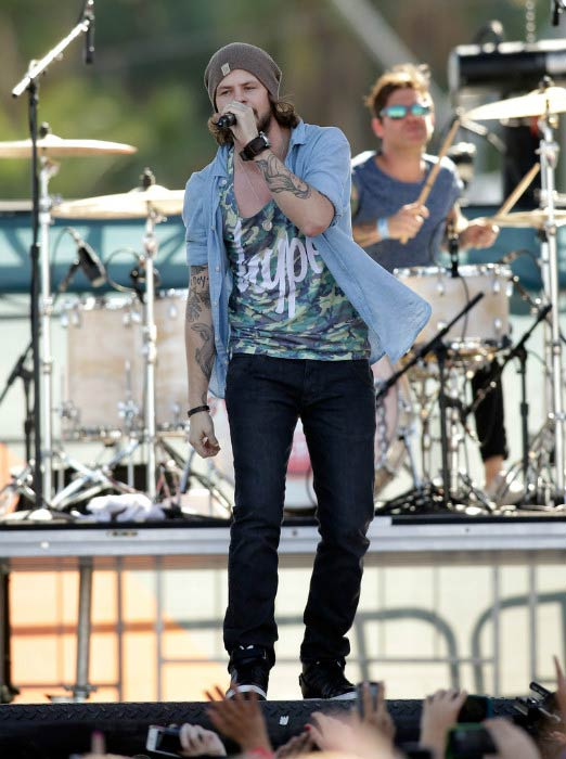 Jay McGuiness performing at the 2013 iHeartRadio Music Festival Village in Las Vegas