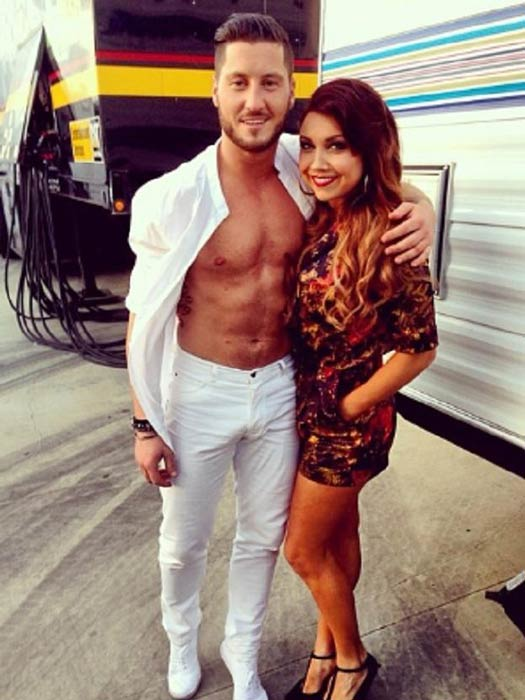Jenna Johnson and Val Chmerkovskiy at the Dancing with the Stars studio