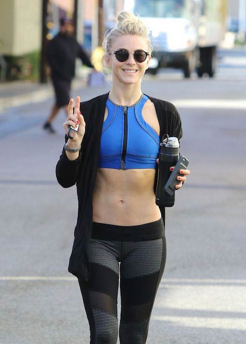 Julianne Hough after a gym session in Los Angeles in January 2017