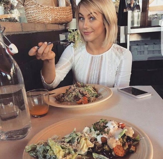 Julianne Hough eating a salad
