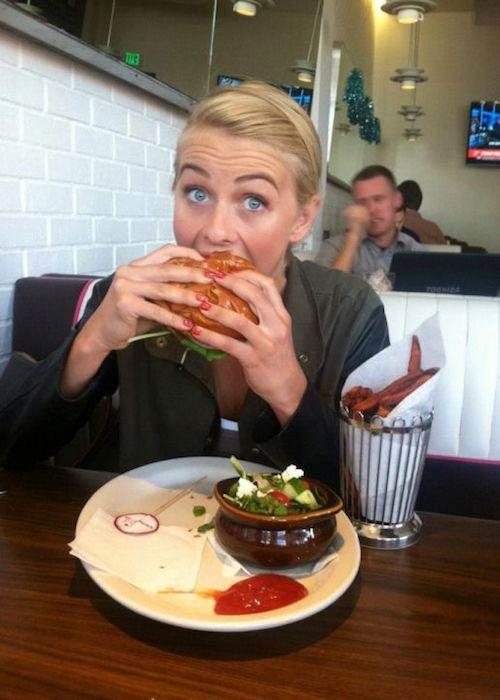 Julianne Hough having her favorite food