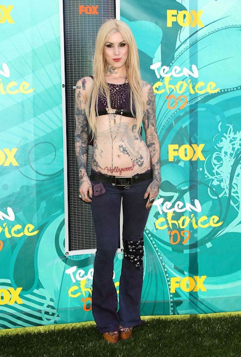Kat Von D Teen Choice Awards in California in August 2009