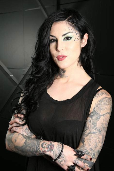 Kat Von D during a photoshoot in Sydney in December 2014