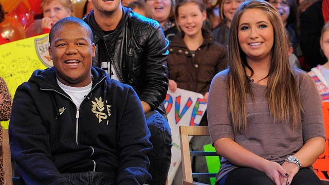 Kyle Massey and Bristol Palin at the Dancing with the Stars event in November 2010