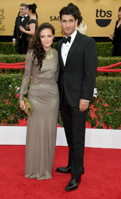 Lara Pulver and Raza Jaffrey at the 2015 Screen Actors Guild Awards in Los Angeles