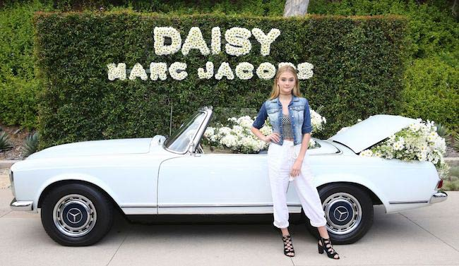Lizzy Greene at the fragrance launch outdoor party of Daisy by Marc Jacobs hosted by model Kaia Gerber in California in May 2017