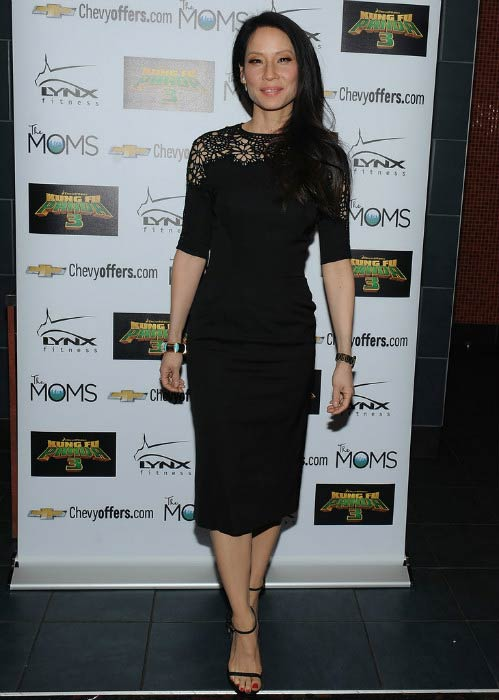 "Lucy Liu at The Moms Mamarazzi ""Kung Fu Panda 3"" screening in January 2016"