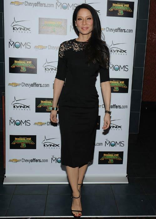 "Lucy Liu at The Moms Mamarazzi ""Kung Fu Panda 3"" screening in January 2016"