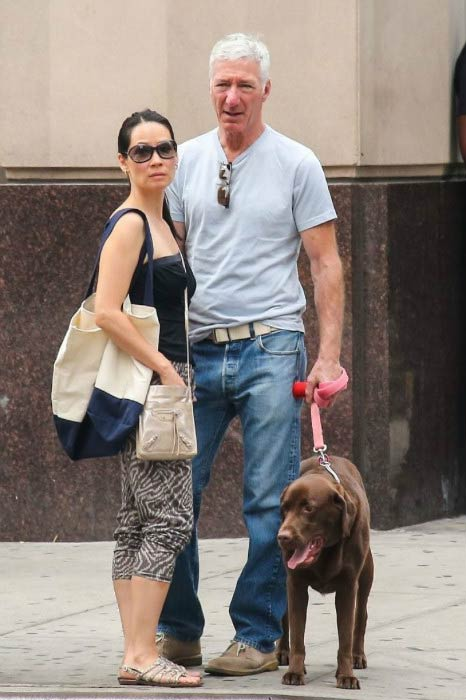Lucy Liu and Noam Gottesman in New York City in August 2014
