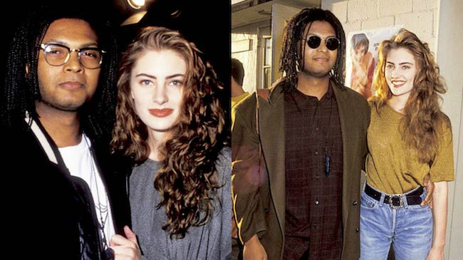 Madchen Amick at public events with her then boyfriend now husband, David Alexis in 1990