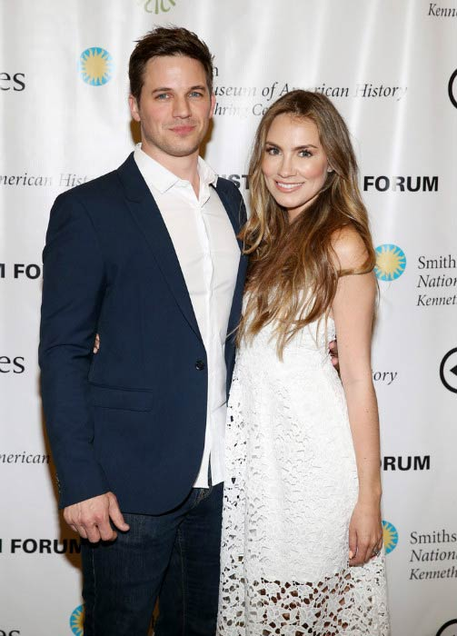 Matt Lanter and Angela Stacy at the NEH's History Film Forum Event in March 2017