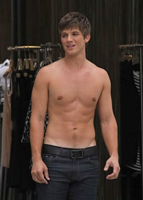 Matt Lanter shirtless body still TV series 90210