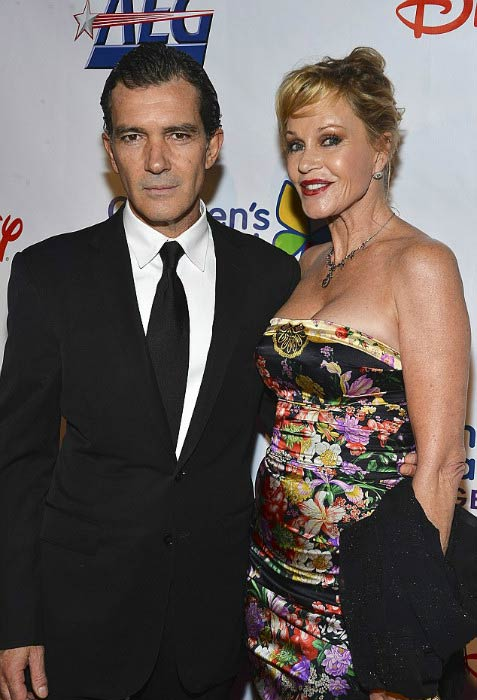 Melanie Griffith and Antonio Banderas at the Children's Hospital Los Angeles Gala in October 2012