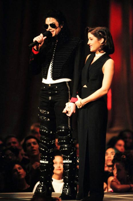 Michael Jackson and Lisa Marie Presley at the MTV Music Video Awards in 1994