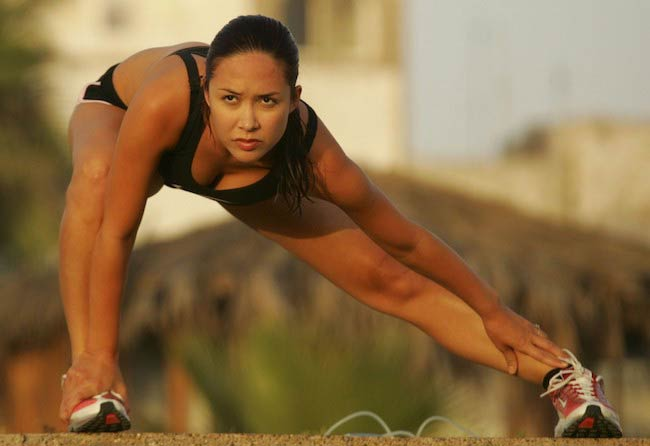 Myleene Klass working out in St Lucia in May 2012