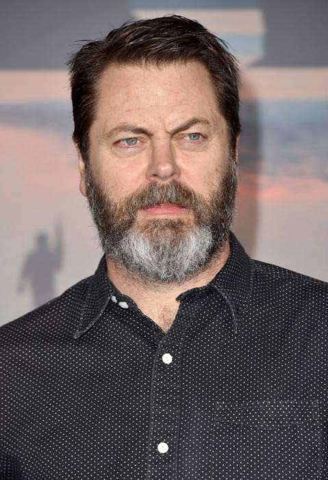 Nick Offerman at the premiere of Kong: Skull Island in March 2017