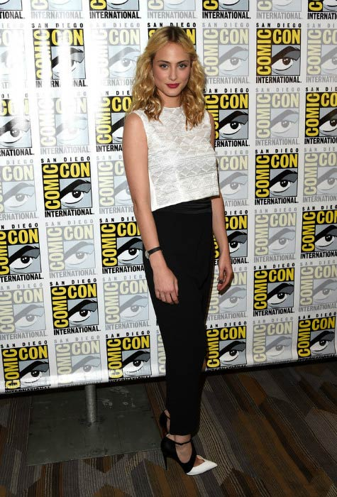 Nora Arnezeder at the CBS Television Studios press room during Comic-Con International 2015
