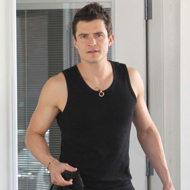 Orlando Bloom wearing tank top