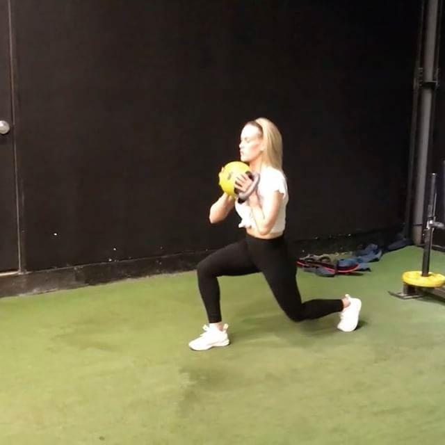 Peta Murgatroyd gymming