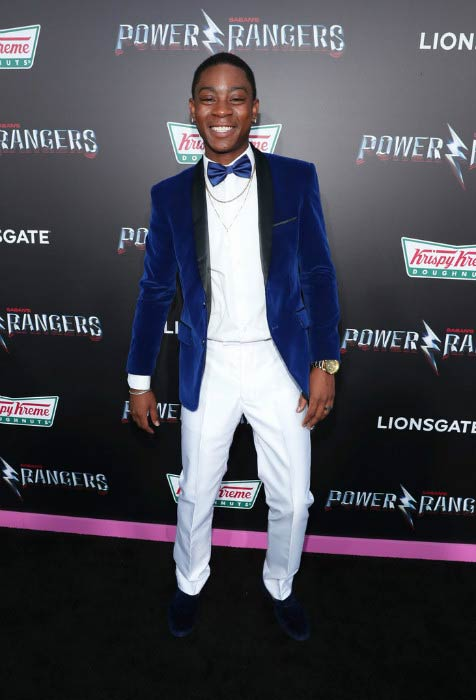 RJ Cyler at the LA Premiere of Power Rangers in March 2017