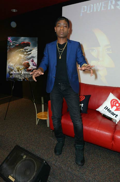 RJ Cyler at the Power Rangers fan event in March 2017
