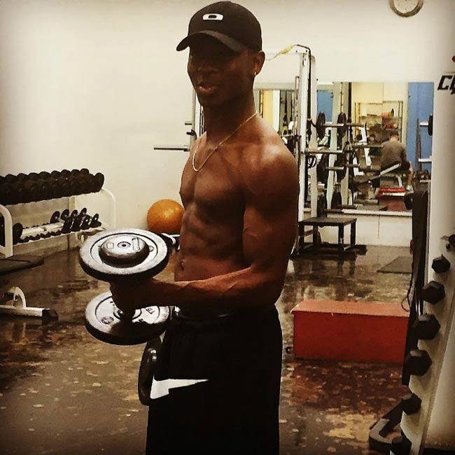 RJ Cyler shirtless in a picture shared on social media in February 2016