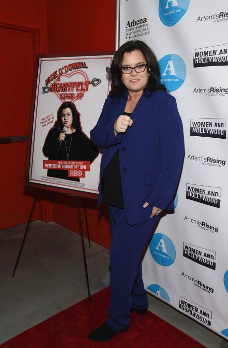 Rosie O'Donnell at the 5th Annual Athena Film Festival Ceremony & Reception in February 2015