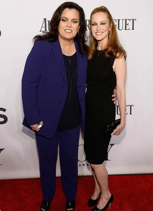 Rosie O'Donnell and Michelle Rounds at the 68th Annual Tony Awards in June 2014