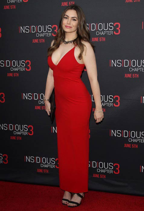 Sophie Simmons at the premiere of American-Canadian supernatural film, Insidious Chapter 3 in June 2015