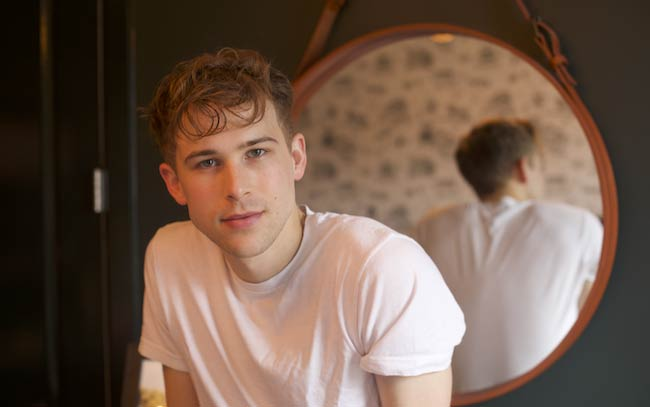 Tommy Dorfman at his Brooklyn apartment for an interview in March 2017