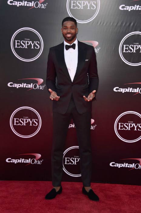 Tristan Thompson at the ESPY Awards in July 2016 in Los Angeles