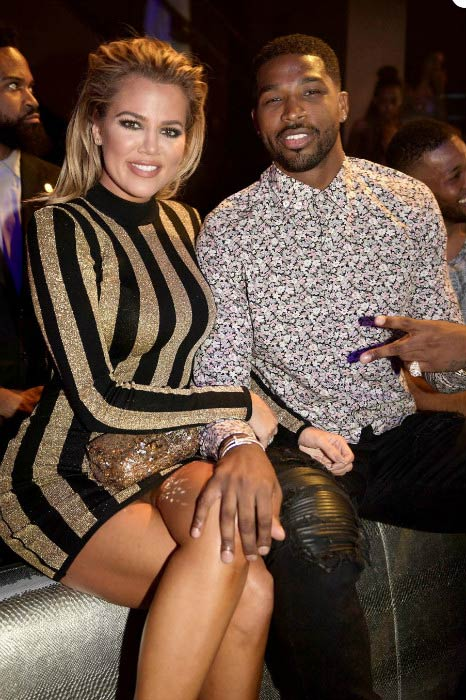 Tristan Thompson and Khloe Kardashian at the LIV nightclub in Miami in September 2016
