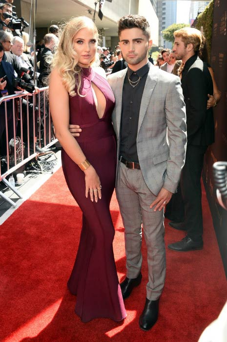 Veronica Dunne and Max Ehrich at the 43rd Annual Daytime Emmy Awards in May 2016