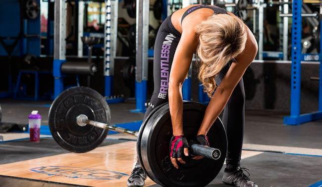 Allie Ruby gym workout