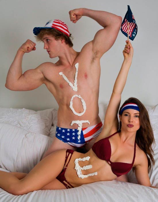 Amanda Cerny and Logan Paul in a picture shared on his Twitter in November 2016